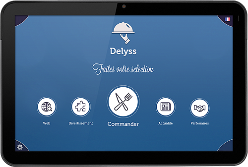 Application tablette menu restaurant Delyss
