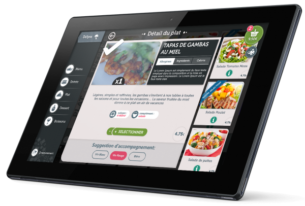 tablette menu restaurant