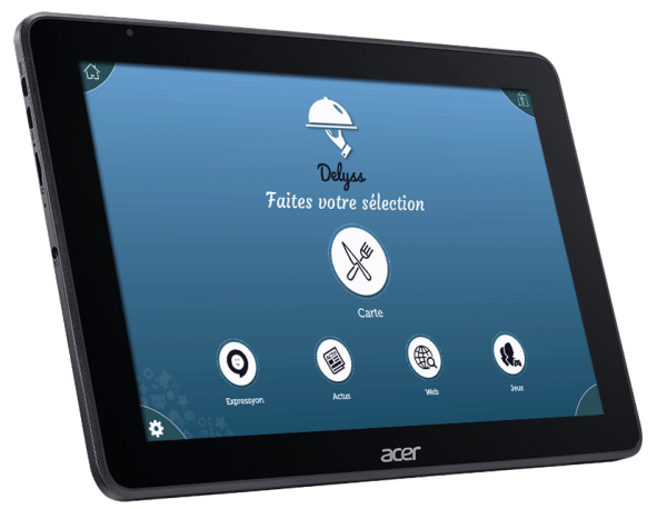 Tablette de menu pour restaurant Acer One