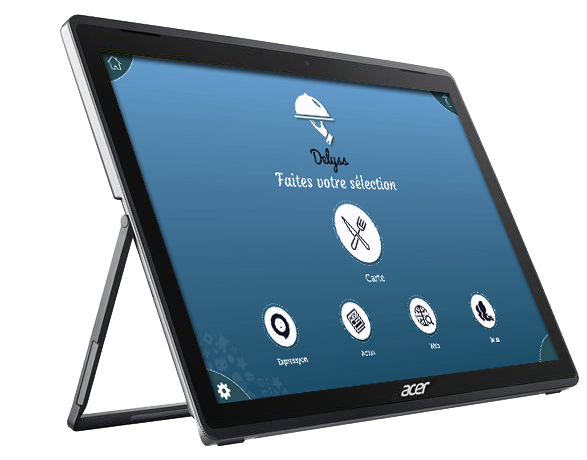 Tablette de menu pour restaurant Acer Switch3