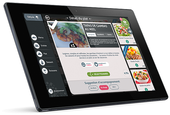 tablette tactile menu pour restaurant