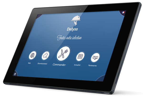 Tablette tactile de menu pour restaurant